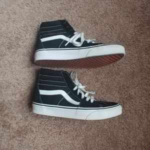 Like new high top Vans size 6.5 men/8 women